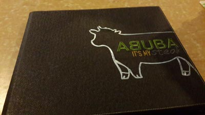 Abuba Steak Menu