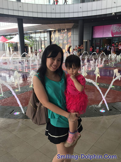 Me and my little one in front of Aeon Fountain