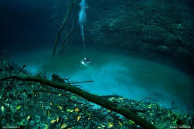 Try to Swin in Underwater River