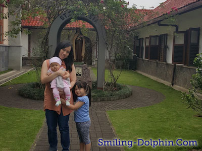 Me, CG and lil CP @ Goa Karmel, Bandung