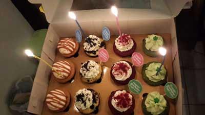 Chai's Birthday Cupcake