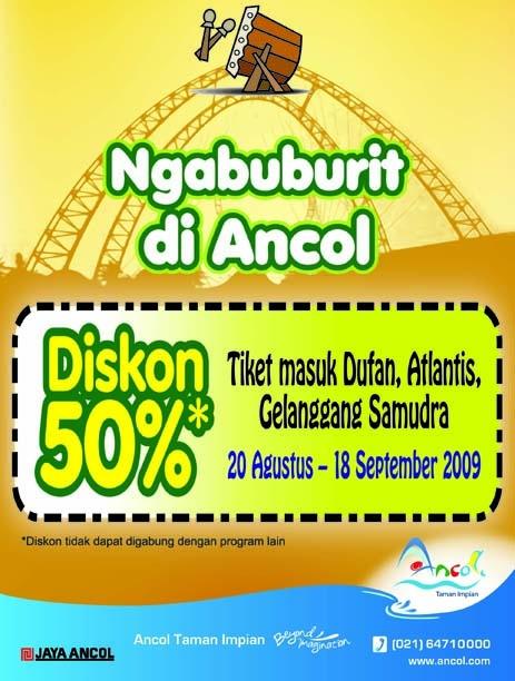 Ancol diskon flyer 2009