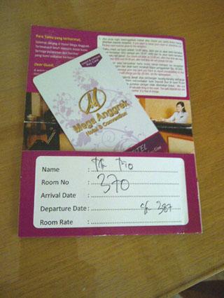Mega Anggrek Hotel Card