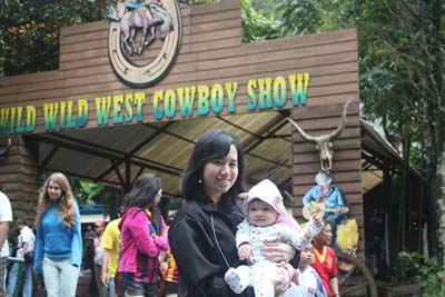 in front of cowboy show