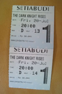 Ticket The Dark Night Rises