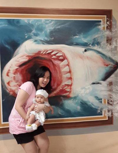 Trick art museum : shark