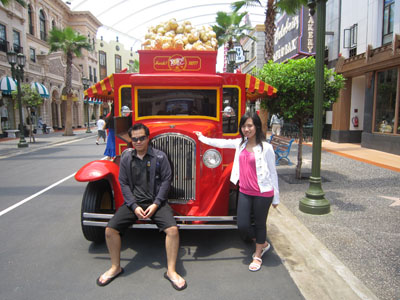 in Front of Universal Studio Singapore