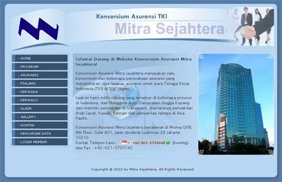 Website Konsorsium Asuransi Mitra Sejahtera