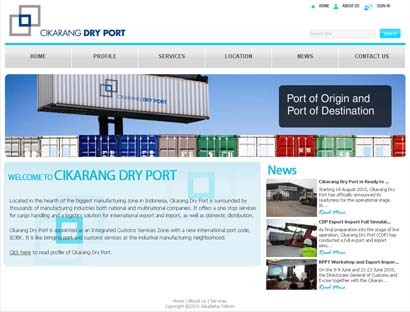 Cikarang Dry Port Website