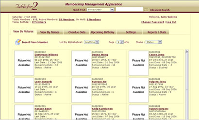 Membership Management Application